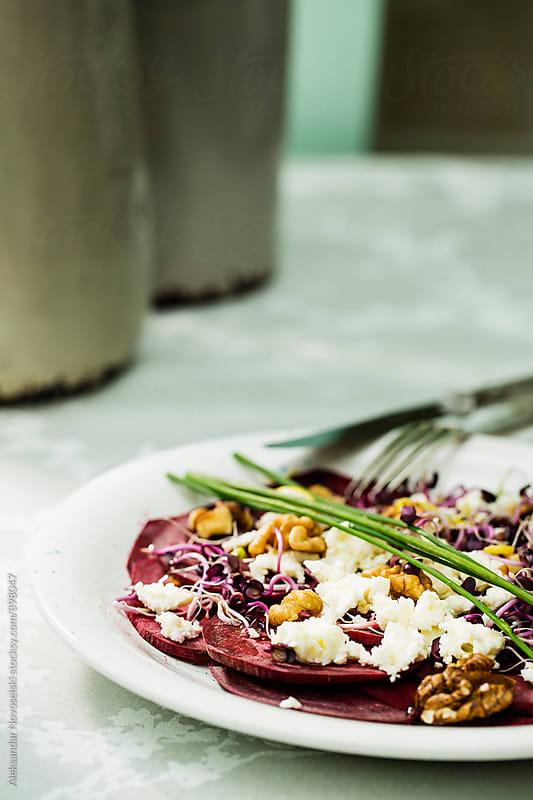 Salad with beetroot by Aleksandar Novoselski for Stocksy United