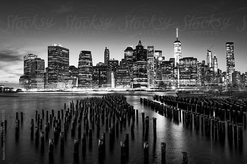 New York City Skyline at twilight by Adam Nixon for Stocksy United
