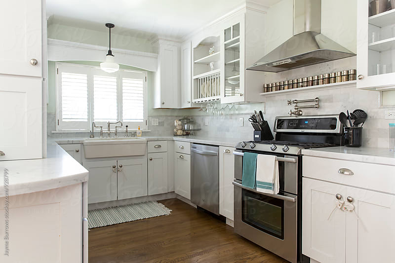 Small, Modern, American Kitchen by Jayme Burrows for Stocksy United