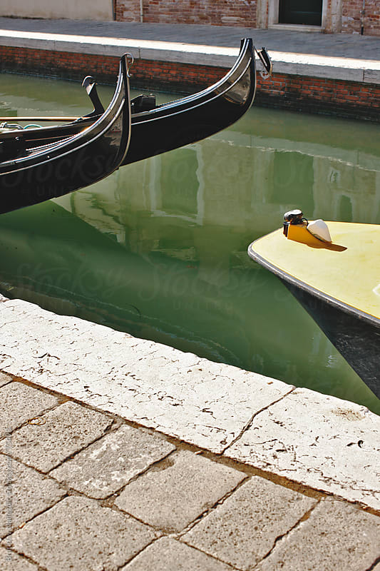 Boats on Venice canal by Bratislav Nadezdic for Stocksy United