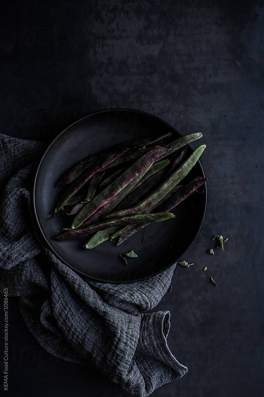 Purple flat beans by KEMA Food Culture for Stocksy United