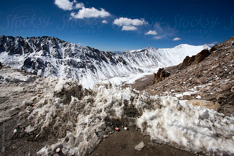 Snow at Khardungla Pass(18400 ft) in Ladakh,India by PARTHA PAL for Stocksy United