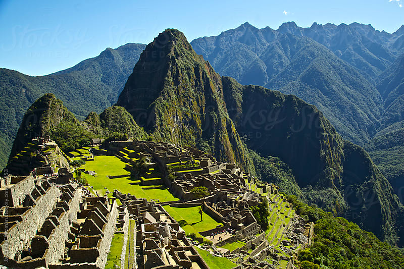 Spectacular view point down to Machu Picchu ruins, Unesco World Heritage Site, Peru  by Jaydene Chapman for Stocksy United