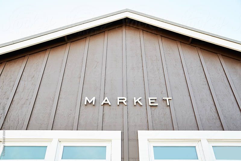Market sign  by Trinette Reed for Stocksy United
