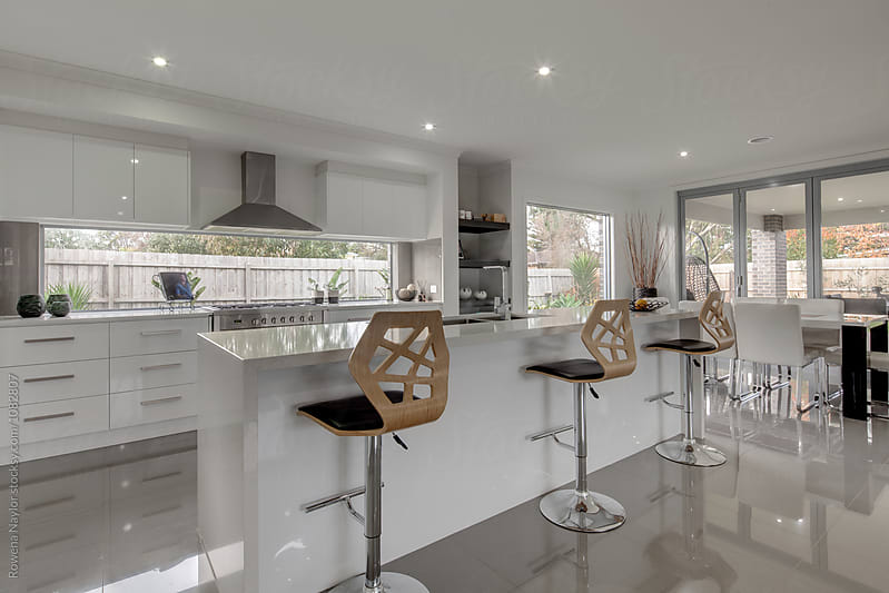 Modern kitchen interior by Rowena Naylor for Stocksy United