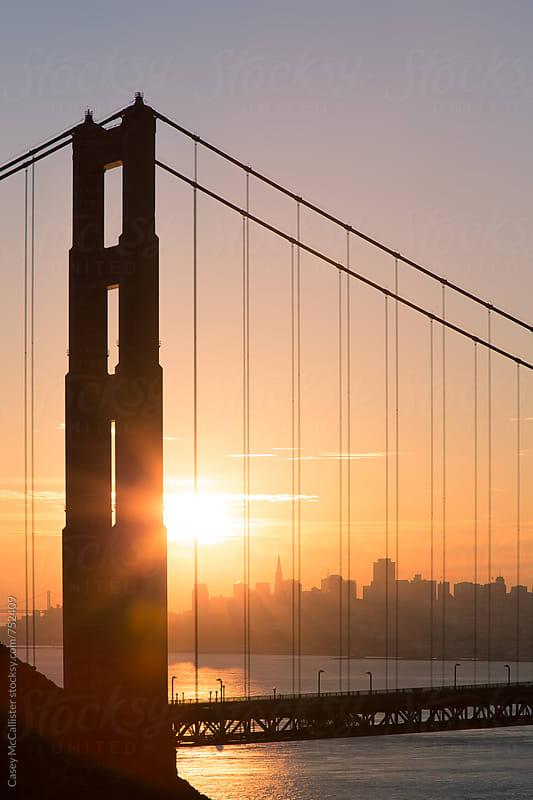 Golden Gate Bridge Sunrise by Casey McCallister for Stocksy United