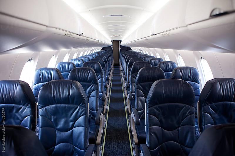 Airplane: Empty Interior of Plane by Sean Locke for Stocksy United