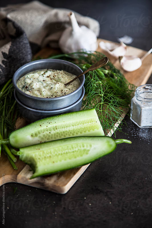 Tzatziki Recipe by Alie Lengyelova for Stocksy United