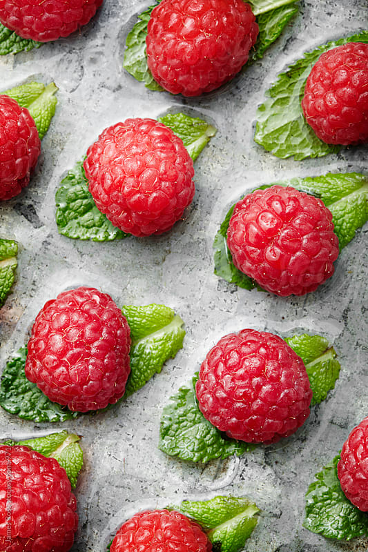 Raspberries by James Ross for Stocksy United