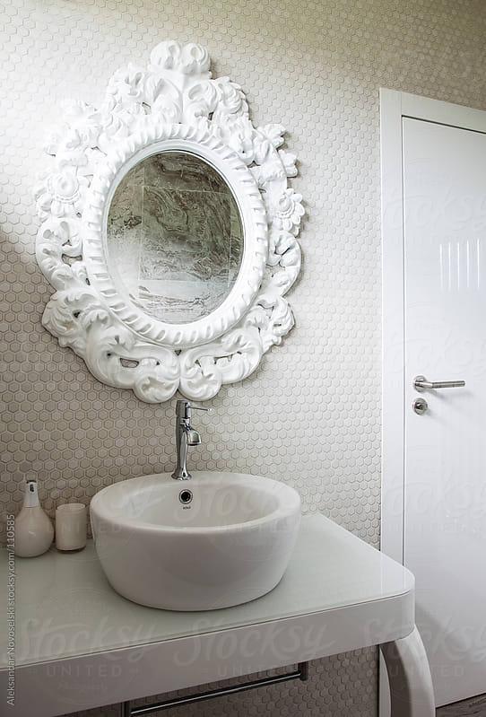 Modern bathroom by Aleksandar Novoselski for Stocksy United