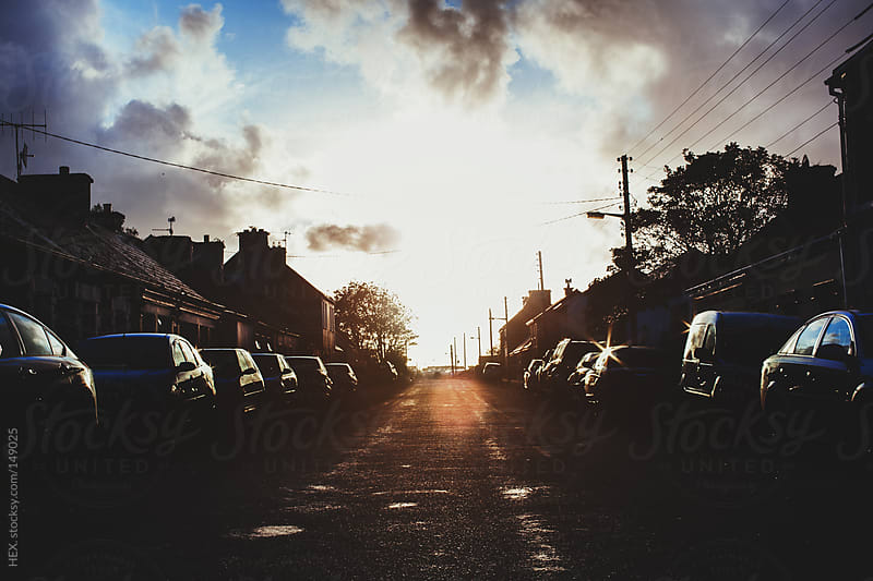 Main Road Town at Sunset by HEX. for Stocksy United