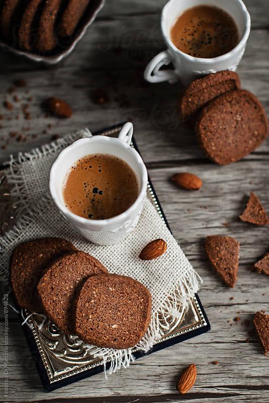 Almond coffee shortbread  by Federica Di Marcello for Stocksy United