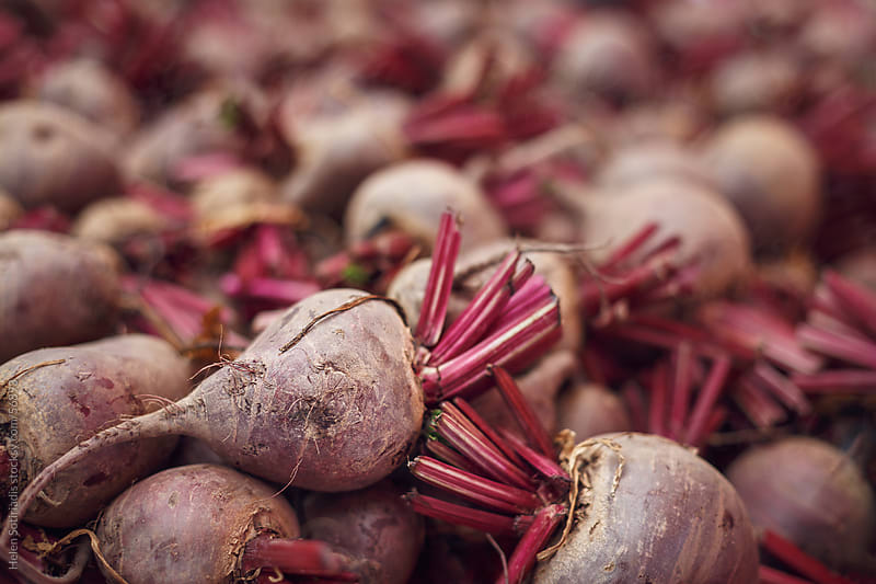 Beets at the local market by Helen Sotiriadis for Stocksy United