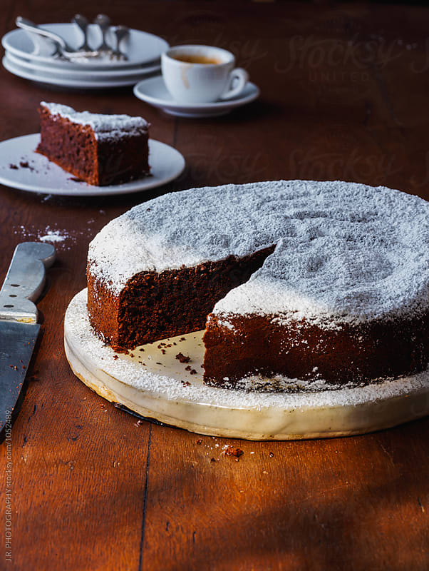 Hazelnut chocolate cake by J.R. PHOTOGRAPHY for Stocksy United