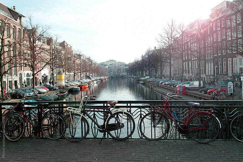 Bridge over canal in Amsterdam by Marcel for Stocksy United