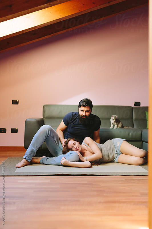 Lovely Couple at home by Good Vibrations Images for Stocksy United