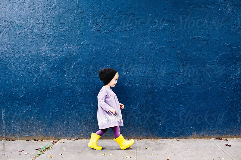 Child Walking by Ali Lanenga for Stocksy United