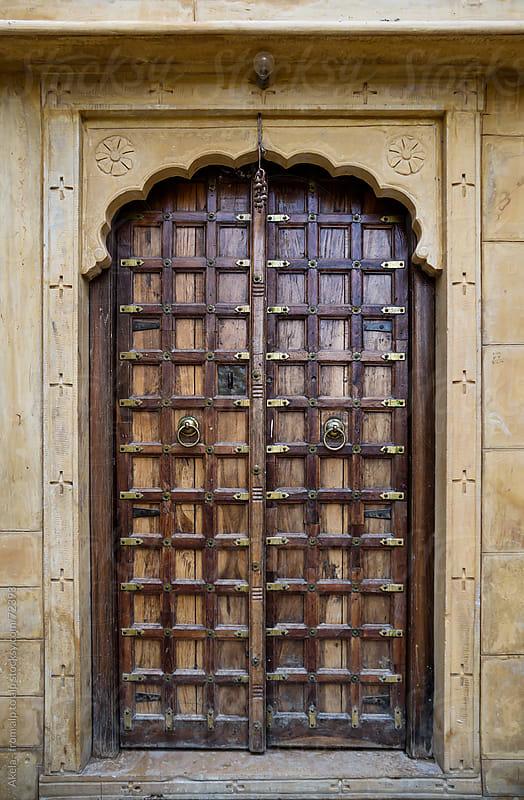 Indian wooden door by Leander Nardin for Stocksy United