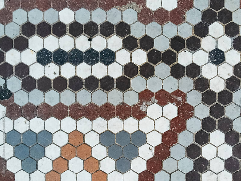 Mosaic pattern on a floor by Gabriel (Gabi) Bucataru for Stocksy United