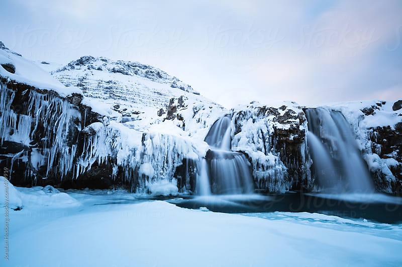 Winter waterfall by Jonatan Hedberg for Stocksy United