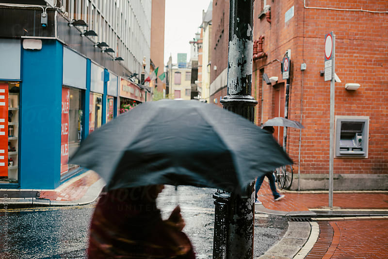 Dublin Urban Raining Day by HEX. for Stocksy United