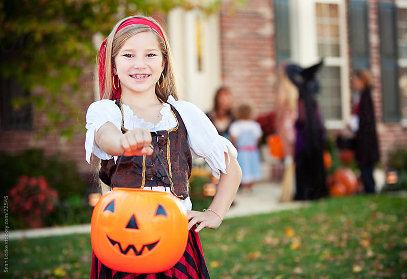 Halloween: Pirate Ready to Go Trick or Treating by Sean Locke for Stocksy United