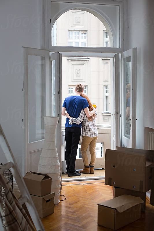 Couple in Their New Apartment by Lumina for Stocksy United