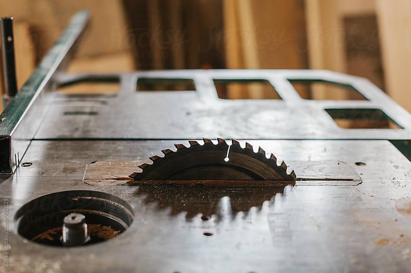 Rotatory saw machinery detail  by Zocky for Stocksy United