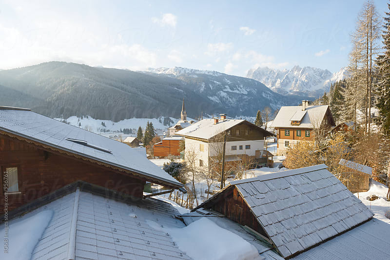 Picturesque village in Austrian Alps by RG&B Images for Stocksy United