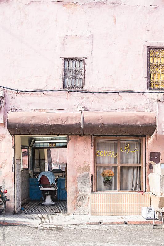 Hairdresser in Marrakech by Sophia van den Hoek for Stocksy United