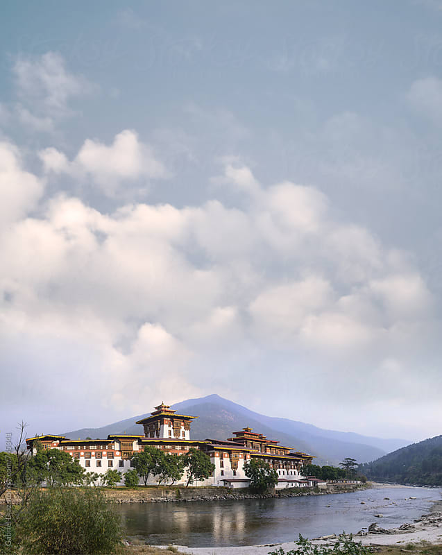 unakha monastery in Bhutan, one of the biggest monastery in Bhutan by Gabriel Diaz for Stocksy United