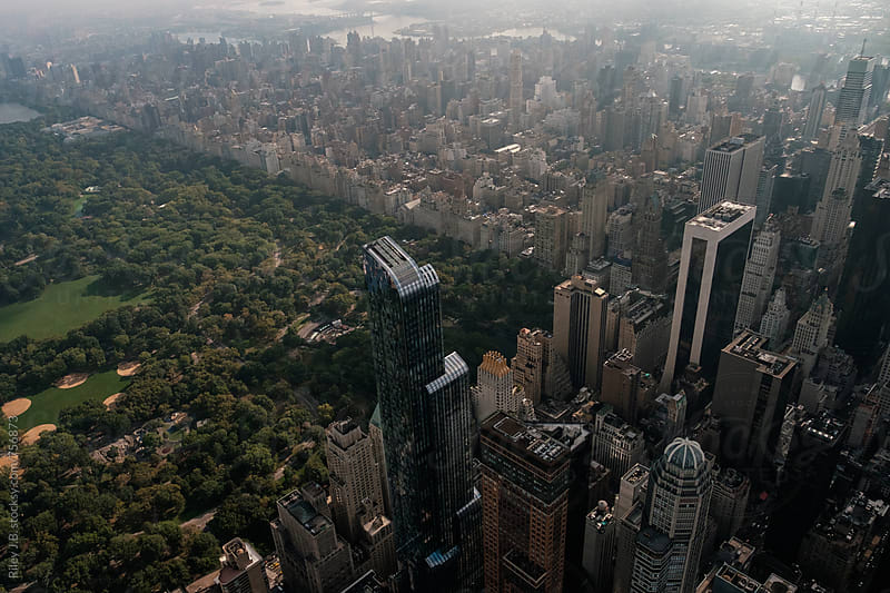 Skyscrapers surround Central Park in NYC by Riley J.B. for Stocksy United