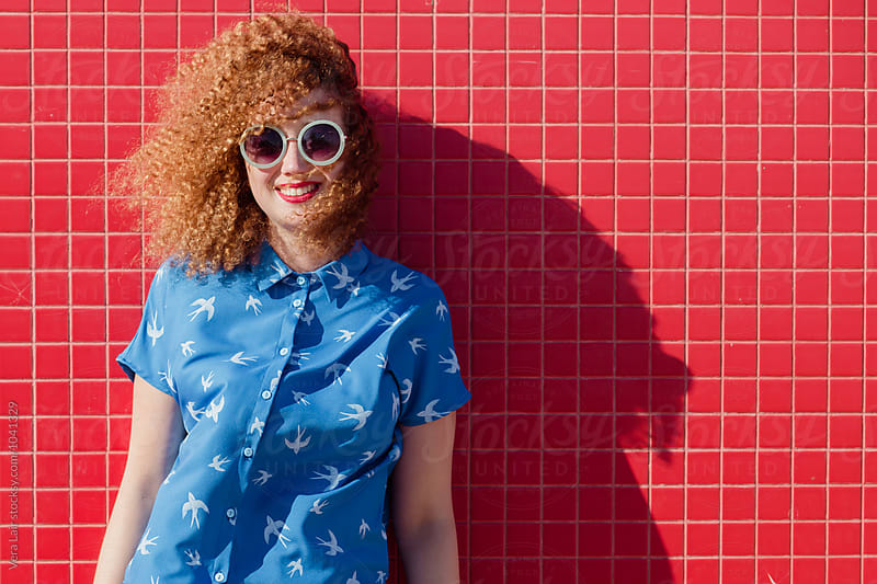Curly girl by Vera Lair for Stocksy United