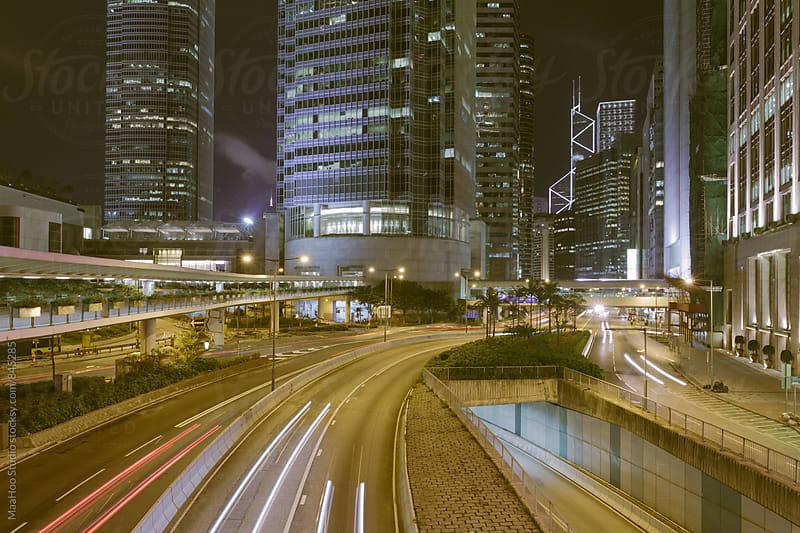 Hong Kong at night by Maa Hoo for Stocksy United