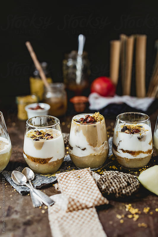 Parfait on the table by Tatjana Ristanic for Stocksy United