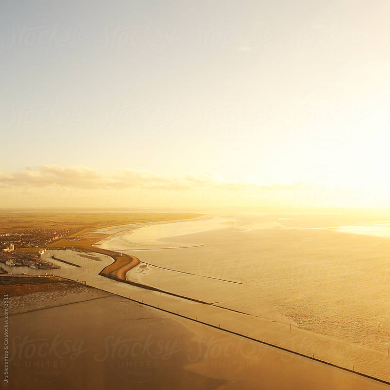 Wadden Sea Aerial View by Urs Siedentop & Co for Stocksy United