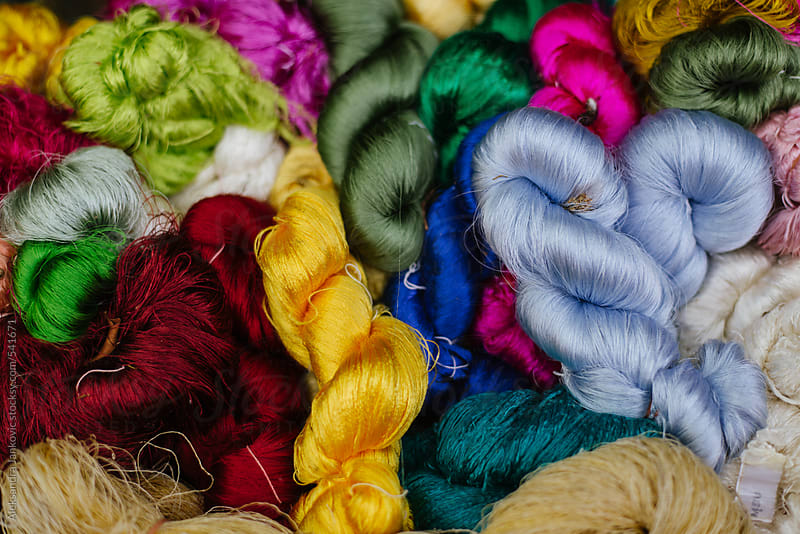 Colorful raw silk close up by Aleksandra Jankovic for Stocksy United