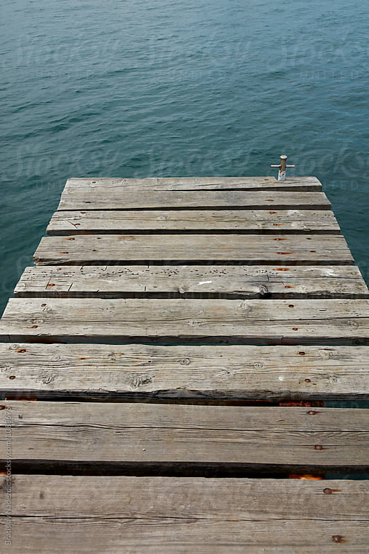 Wooden marine dock by Bratislav Nadezdic for Stocksy United