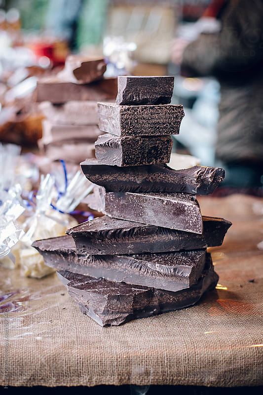 Stack of Chocolate Chunks For Sale by Hung Quach for Stocksy United