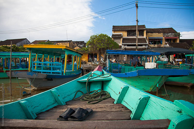 Arriving In Hoi An by Boat by Rowena Naylor for Stocksy United