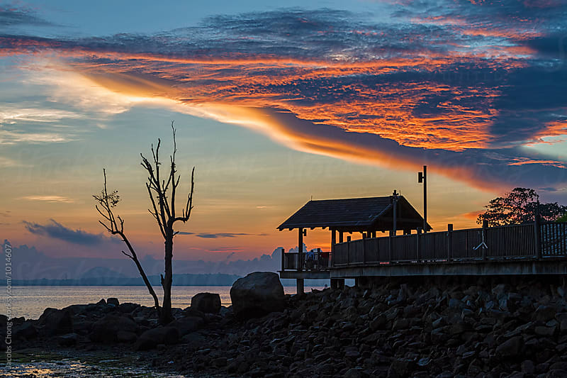 Sunrise at Changi Beach by Jacobs Chong for Stocksy United