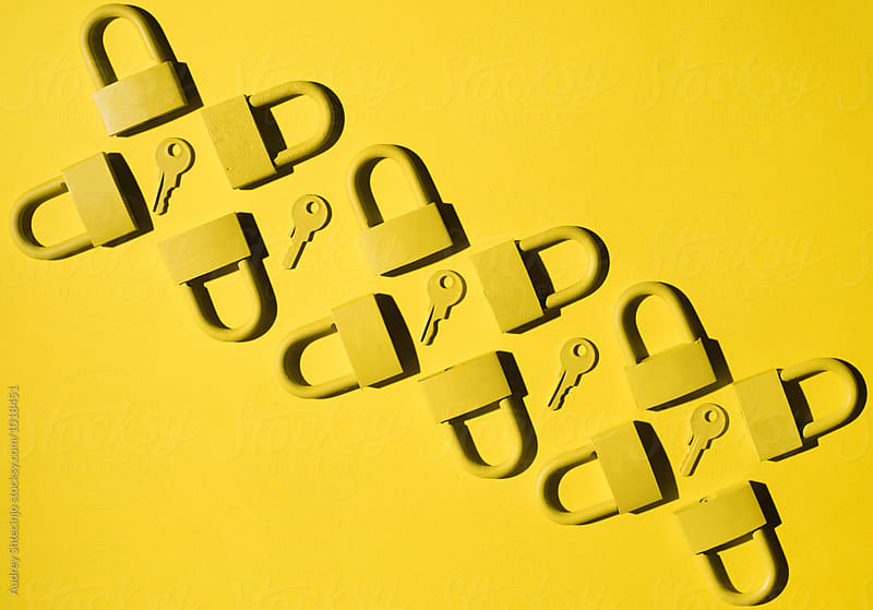 Keys and locks. yellow/yellow by Audrey Shtecinjo for Stocksy United