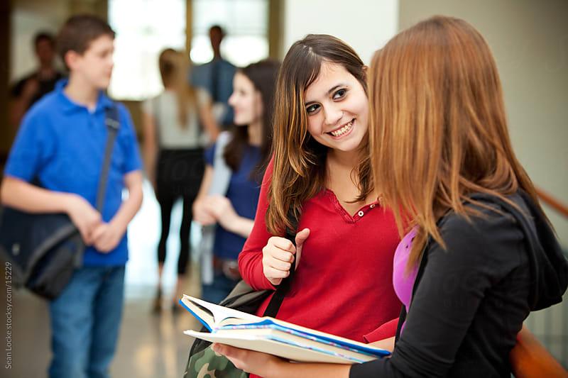 High School: Friends Talking in Hallway by Sean Locke ...