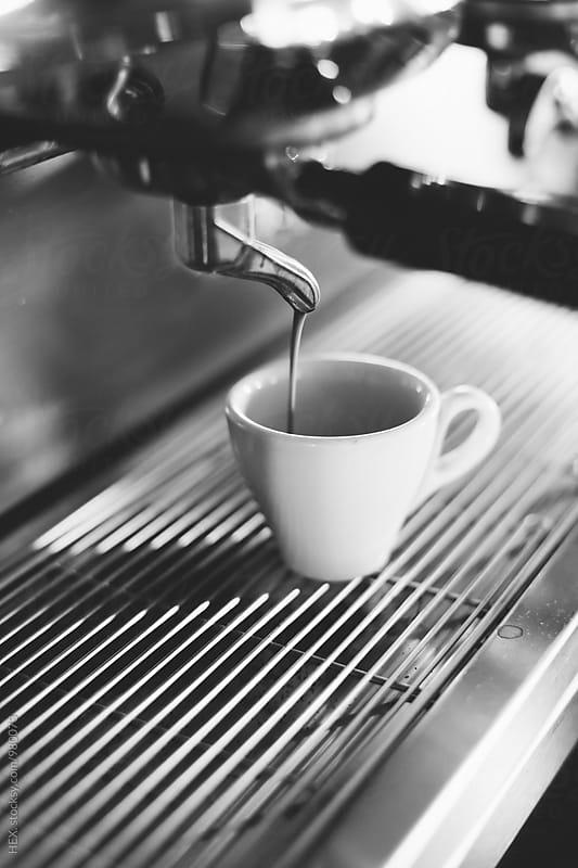 Espresso Coffee Machine Making Espresso Coffee by HEX. for Stocksy United