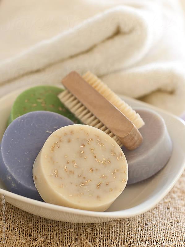Natural soaps by Daniel Hurst for Stocksy United