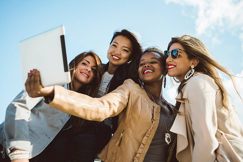 Female Teen Friends taking a Selfie by GIC for Stocksy United