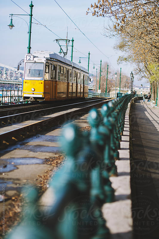 Old tram in Budapest city by Jovana Rikalo for Stocksy United