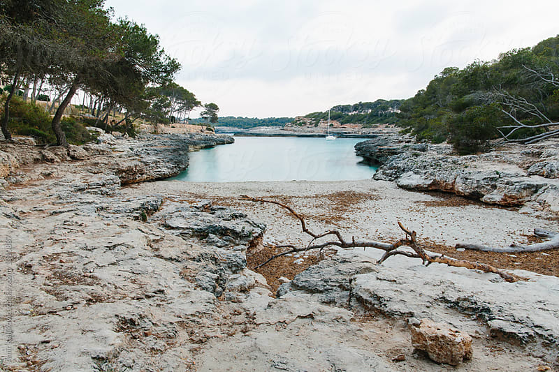 Dry natural water inlet in Mallorca by Amir Kaljikovic for Stocksy United