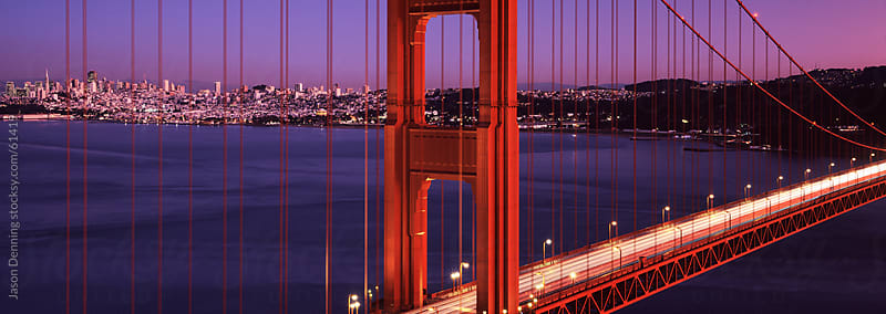 San Francisco and the Golden Gate Bridge by Jason Denning for Stocksy United