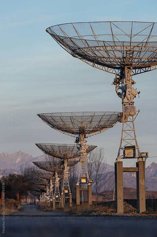 Radio Telescope by Maa Hoo for Stocksy United